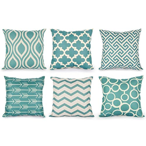 Teal Decorative Pillows Amazon Unique Teal Green Decorative Pillows