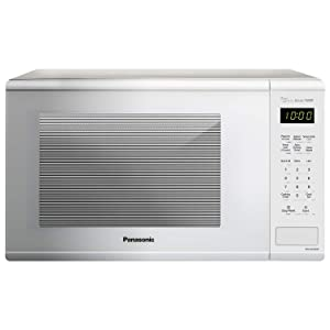 Panasonic NN-SU656W Countertop Microwave Oven with Genius Cooking Sensor and Popcorn Button, 1.3 cu. ft., 1100W, White