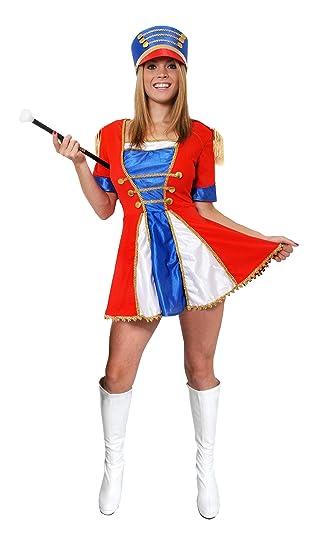 LADIES MAJORETTE COSTUME WOMENS TOY SOLDIER CHRISTMAS FANCY DRESS DRESS + TALL HAT CHEERLEADER OUTFIT (  sc 1 st  Amazon UK & LADIES MAJORETTE COSTUME WOMENS TOY SOLDIER CHRISTMAS FANCY DRESS ...