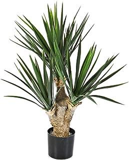 Yucca artificiale, 107 foglie, DELUXE, 70 cm - Pianta grassa / Pianta da appartamento - artplants
