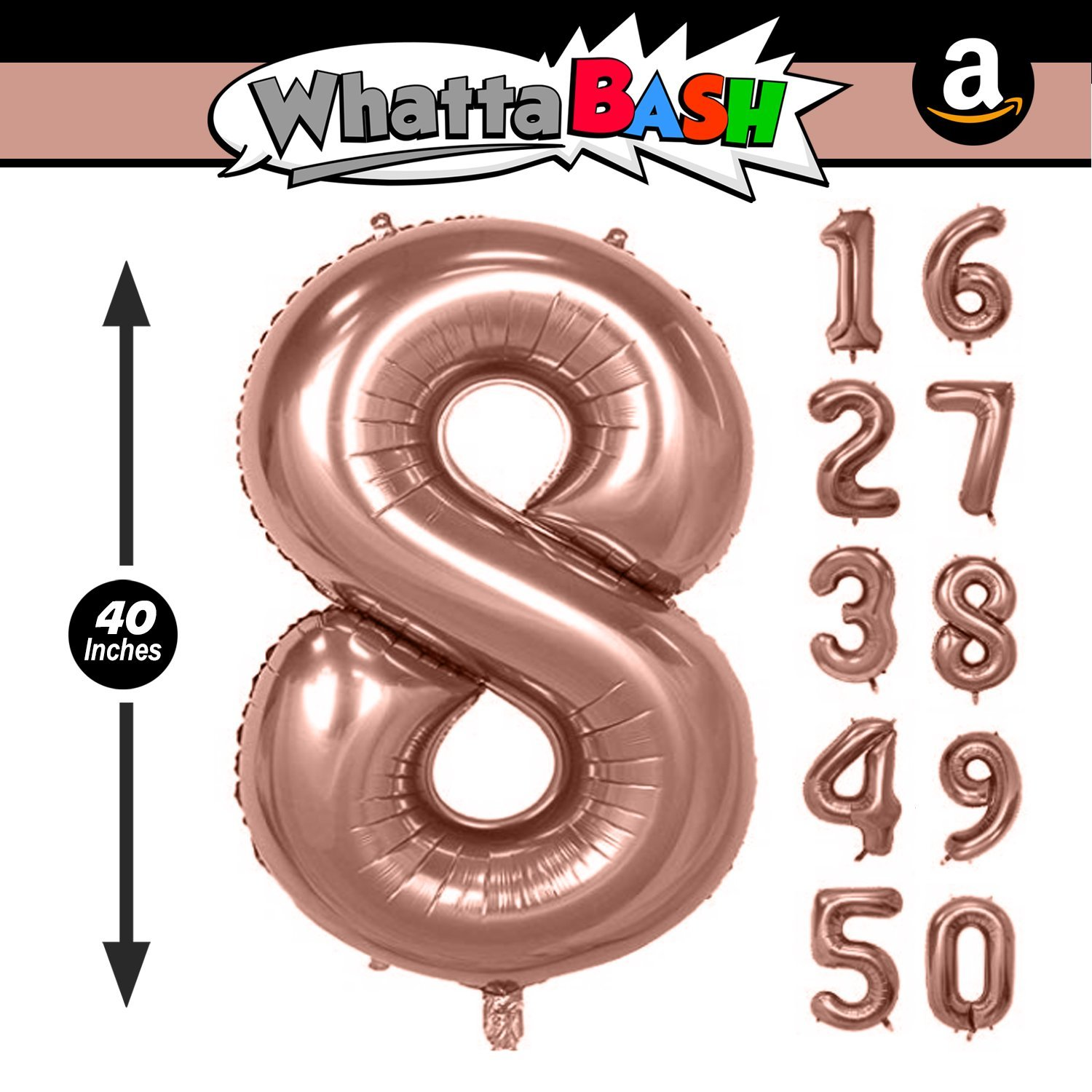 Rose Gold Number 8 40 Inch Rose Gold Jumbo Number 8 Eight Balloon Giant Large Balloons Foil Decorations Supplies For Birthday Party Wedding Shower Anniversary Engagement Photo Shoot Gift Accessories