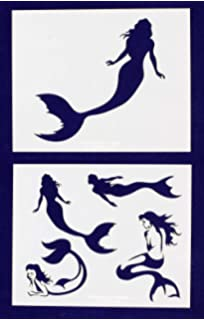 amazon com mermaid stencil template reusable stencil with