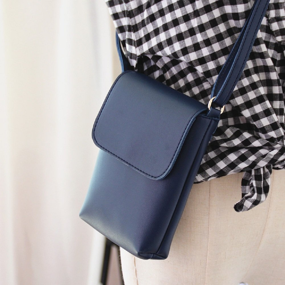 Urmiss Luxury Matte PU Leather Mini Crossbody Single Shoulder Bag Cellphone Pouch