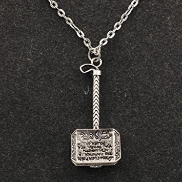 Amazon marvel comics thors hammer pendant silver color marvel comics thors hammer pendant silver color necklace mozeypictures Gallery