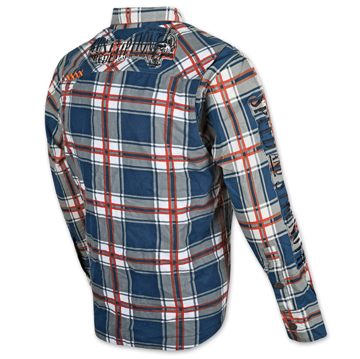 8523856608 XX-LARGE Speed /& Strength Rust And Redemption Armored Shirt BLUE//ORANGE