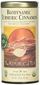 The Republic of Tea Biodynamic Turmeric Cinnamon, 36 CT