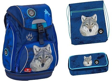 Lobo Animales Set de accesorios escolares Mochila Escolar ergonómica schultasche 42