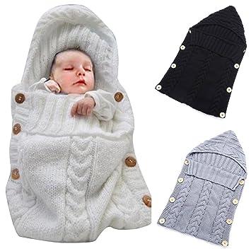 Beige Neugeborenes Baby Wickeldecke dicke warme Kinderwagen Strickdecke plus Samt Baby Kind Kleinkind Fleece Schlafsack Schlafsack Kinderwagen Warp f/ür Baby Gril oder Junge