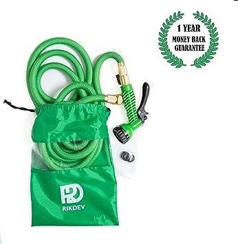 Vision Media® - 100FT Green Expandable Antifreeze Garden Water Hose ...