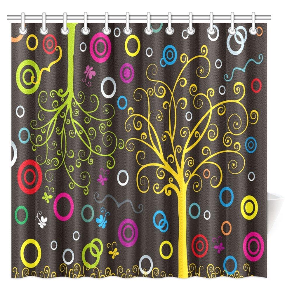 Amazon InterestPrint Artsy Shower Curtain Colorful Dream