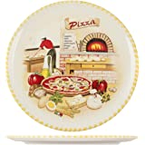 Home Assiette à pizza 34 cm Céramique Multicolore