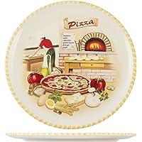 HOME - Plato de Pizza, 34cm, cerámica, Multicolor