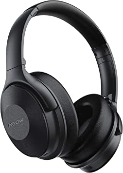 Amazon Com Mpow 45hrs Active Noise Cancelling Headphones H17 Bluetooth Headphones With Microphone Over Ear Quick Charge Deep Bass Wired Wireless Headset For Kids Adults Travel Online Class Home Office Electronics