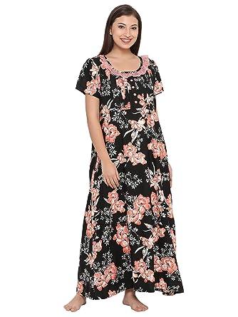 5b632cc9c7 Clovia Women s Cotton Rich Floral Print Maternity Nighty  Amazon.in   Clothing   Accessories