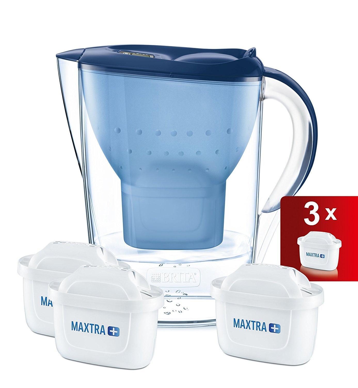 Brita Marella Jarra de Agua Filtrada con 3 Cartuchos Maxtra +, Filtro de Agua Brita