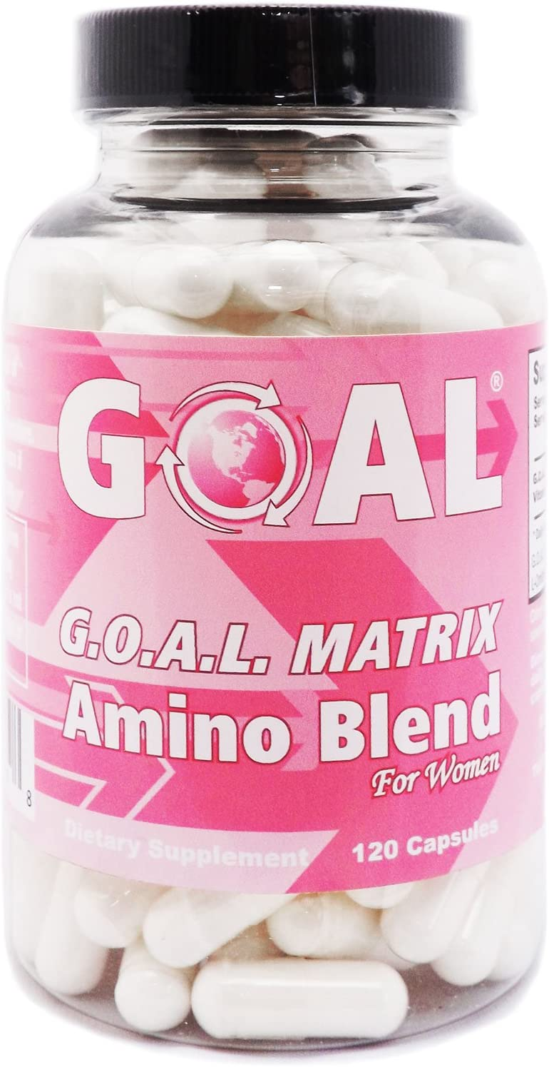 GOAL Naturals – G.O.A.L. Matrix Amino Acids Complex Pills for Women High Potency L-Glycine L-Ornithine L-Arginine L-Lysine Combination Anti-Aging Blend Supplements 120 Capsules