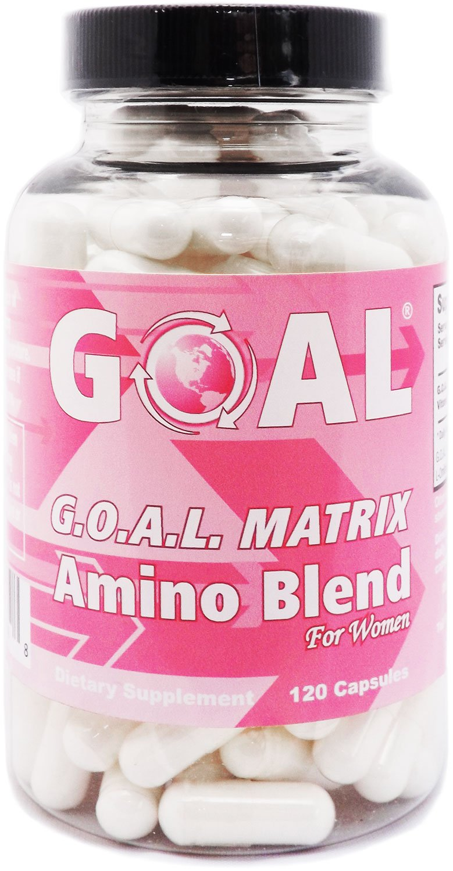 GOAL Naturals - G.O.A.L. MATRIX Amino Acids Complex Pills for Women High Potency L-Glycine L-Ornithine L-Arginine L-Lysine Combination Anti-Aging Blend (120 Capsules)