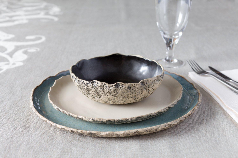 Amazon.com: Stunning handmade organic dinnerware setting, Large ...