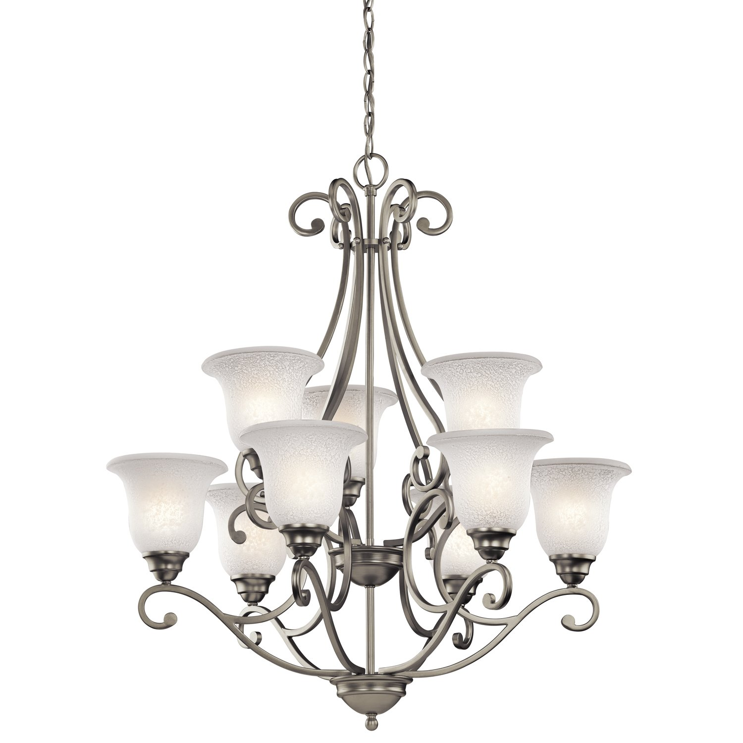 light chandelier silver pn pimlico elstead candle products nickel