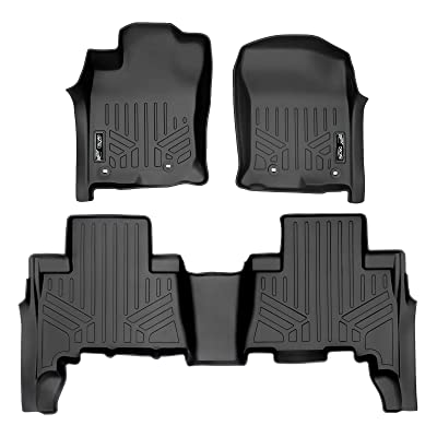 MAXLINER Custom Fit Floor Mats 2 Row Liner Set Black for 2013-2020 Toyota 4Runner / 2014-2020 Lexus GX460: Automotive [5Bkhe0107468]