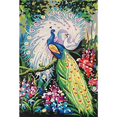 BJBJBJ 1000 Pieces of Wooden Puzzles Adult Jigsaw Wooden Jigsaw-Two Peacocks-Children's Art Leisure Game Fun Toy Gift Suitable for Family Friends: Toys & Games
