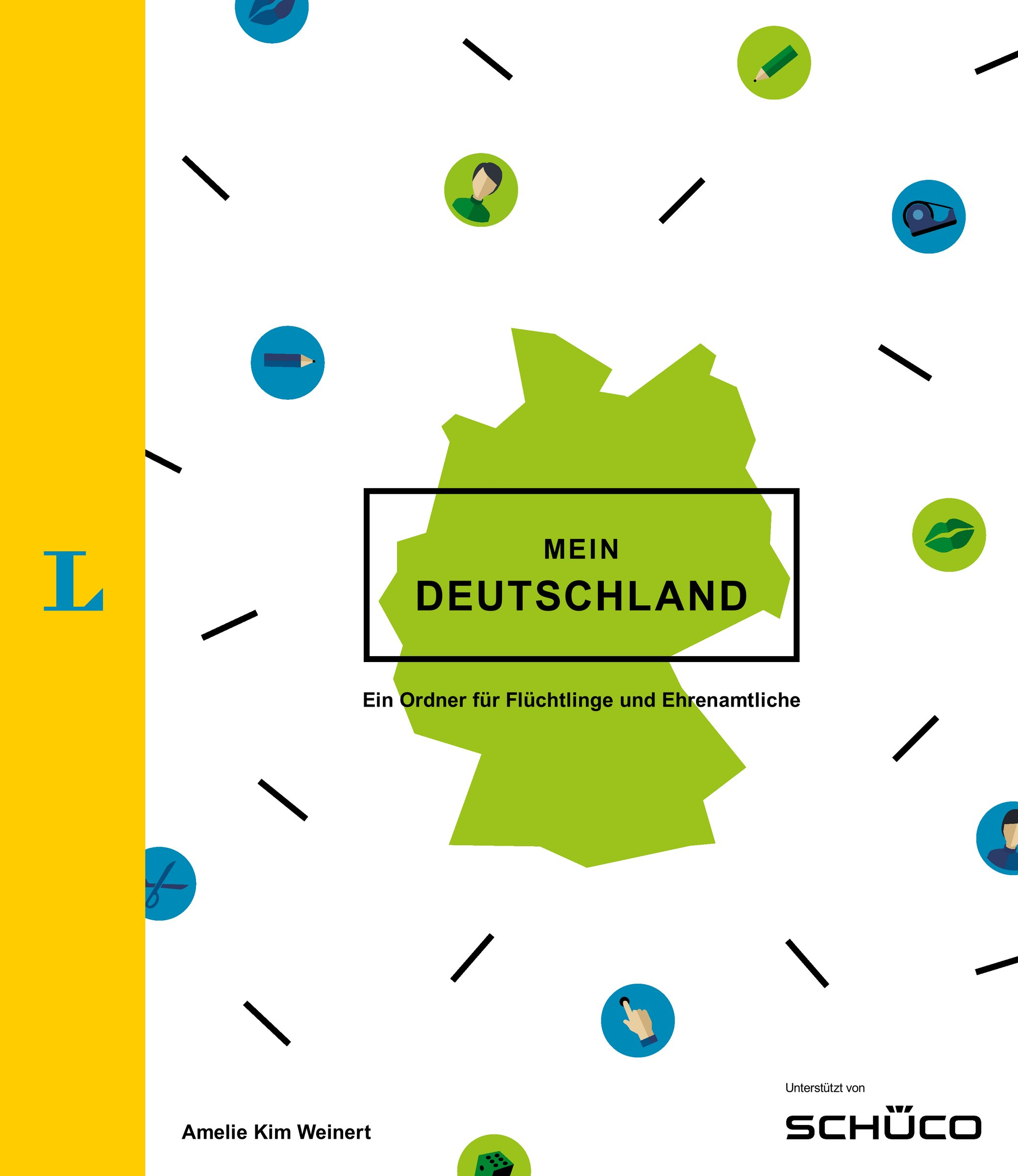 Mein Deutschland - Ordner mit vielfältigen Einlagen und extra Beiheft: Ein Ordner für Flüchtlinge und Ehrenamtliche
