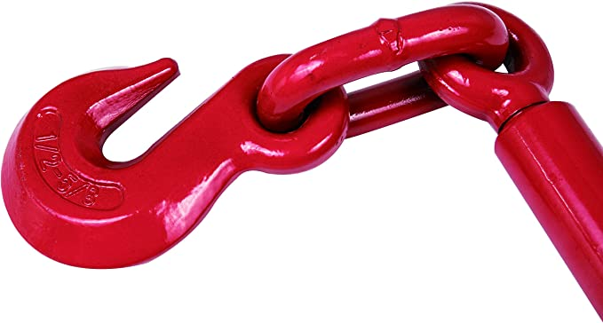 Red 1//2-5//8 2 Pack A A IN EI004A2 Ratchet Load Binders