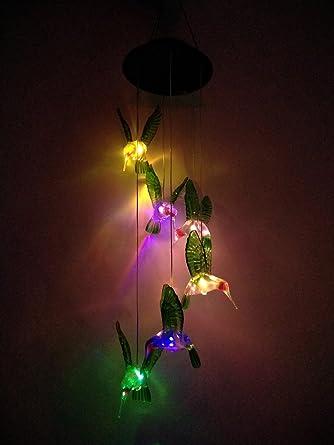 Bloomwin Carillons à Vent Carillon Solaire Lampe De Jardin Forme De
