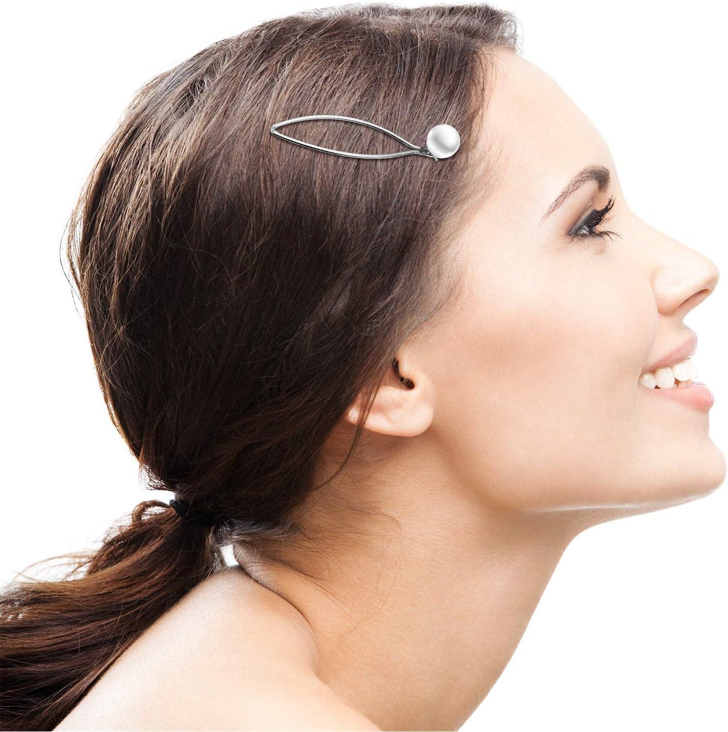 2 Dainty Hairpin Clip Note Rhinestone Hair Snap Clamp Slide Grip Ladies Headwear