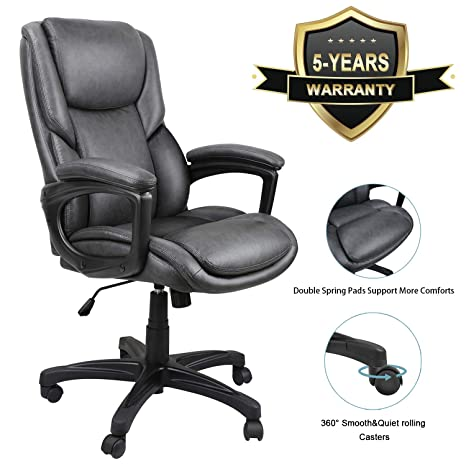 Enjoyable Luxurious Executive Office Chairs High Back Leather Computer Desk Chairs With Flexible Rocking System And Massy Handrail With Padded Gmtry Best Dining Table And Chair Ideas Images Gmtryco