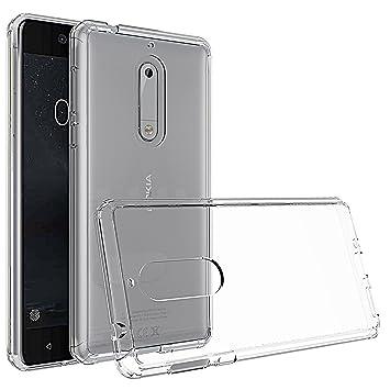 Tektide - Carcasa de Goma TPU para Nokia 5, diseño Invisible ...