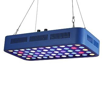 TOPLANET 165w Dimmable Led Acuario Iluminacion Marino Full Spectrum LED para Nano Pecera Coral Pescado Arrecife