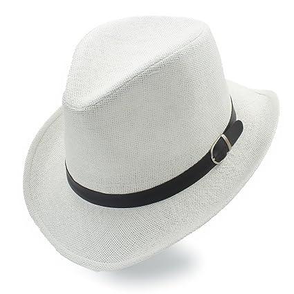 Wei FEI Store Mujeres de la Moda Hombres Paja Sombrero Occidental Sombreros  de Vaquero Summer Beach d94a0821795