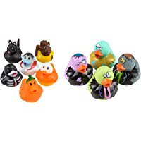 Assorted Zombie & Halloween 2 Inch Rubber Ducks - 24 Pack