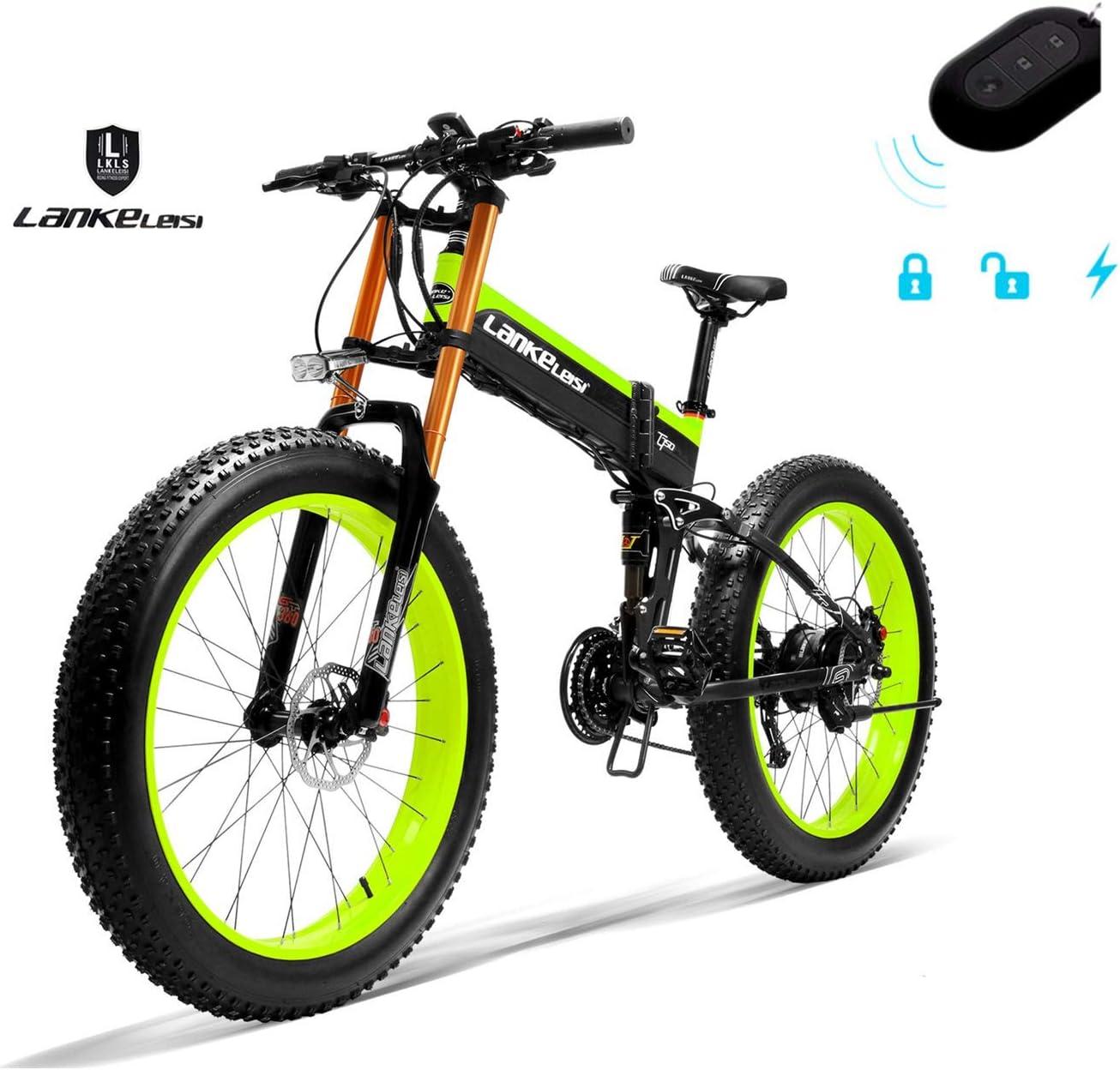 LANKELEISI 750PLUS 48V 14.5AH 1000W Motor allm/ächtiges elektrisches Fahrrad 26  4.0 Gro/ßhandelsreifen MTB das elektrisches Fahrrad f/ür Erwachsene Frau//Mann mit Diebstahlsicherung faltet