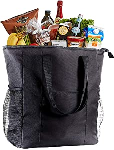 VENO Jumbo ChillOut Thermal Tote, XL Insulated Bag for Grocery Shopping /Entertaining, Transport Hot and Cold Food