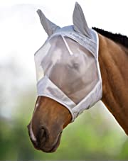 Harrison Howard CareMaster Fly Mask Half Face Moonlight Silver