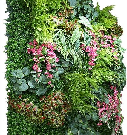 YNFNGXU Seto Artificial con imitación Floral Verde Pantalla de privacidad Fondo Pared de plástico Jardín Decoración de la Pared del hogar (0.96㎡) (Color : 01): Amazon.es: Hogar