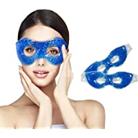 Gel Eye Mask Cold Pack&Cool Compress for Puffy Eyes and Dry Eye,Cooling Eye Mask Ice Masks (Blue)