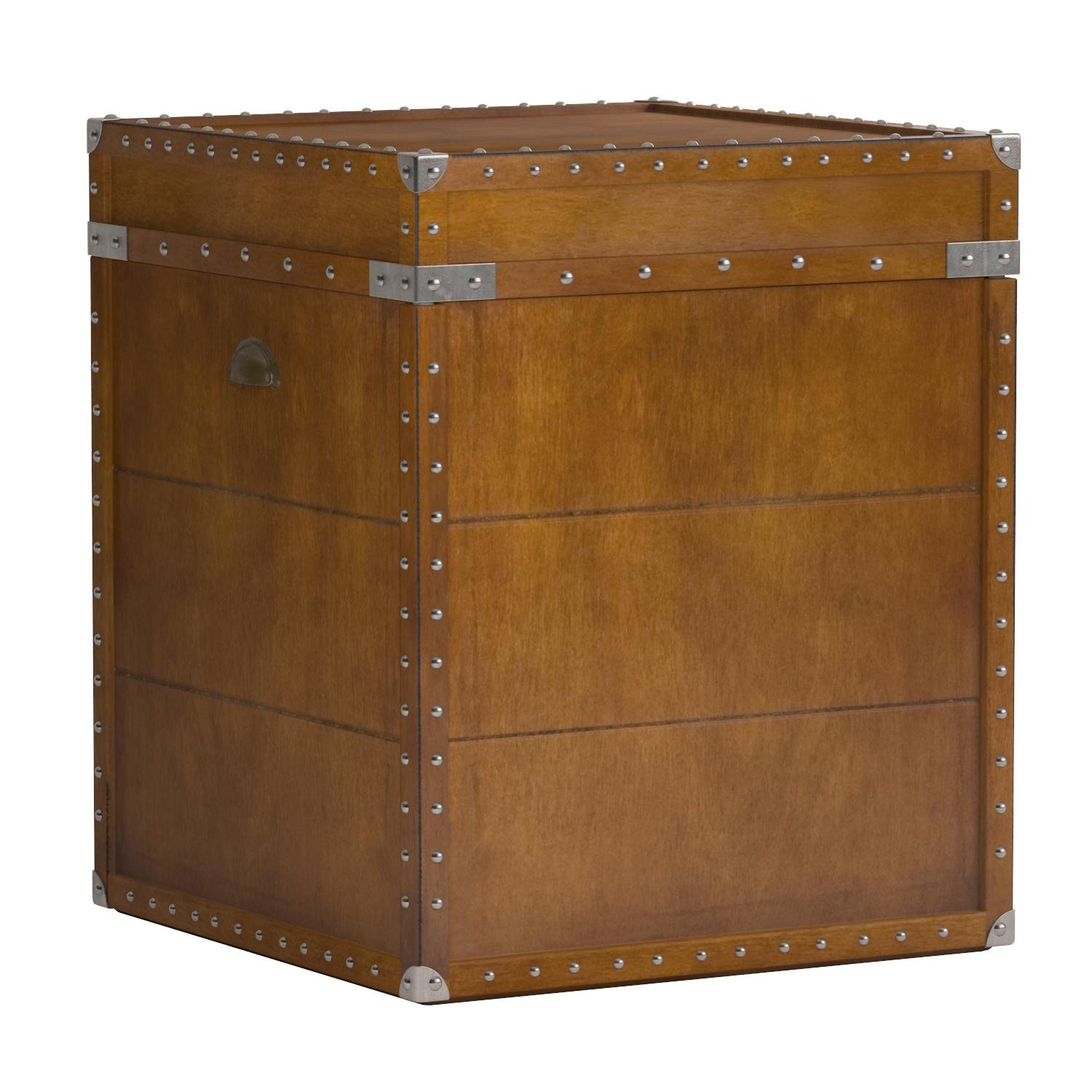 Southern Enterprises Steamer Trunk End Table - Rustic Nailhead Trim - Refinded Industrial Style by Southern Enterprises (Image #10)