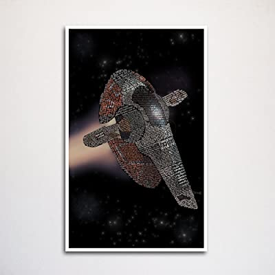 Star Wars Slave One word art print -11x17