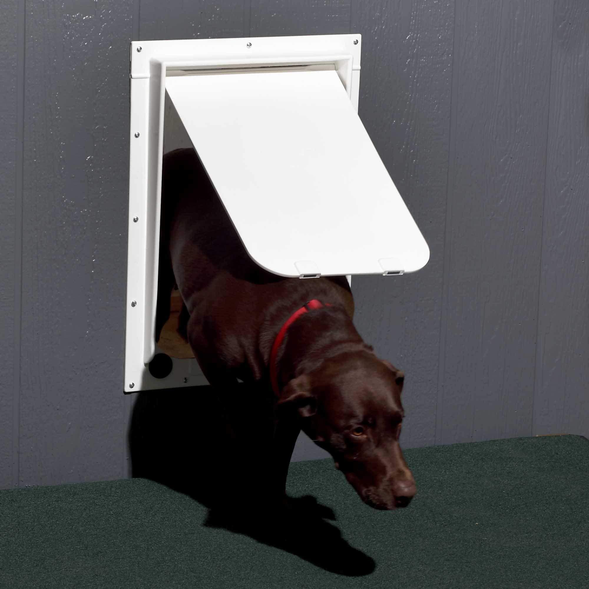 Revival Animal Health Dog Door - Magnador Two-Way Pet Door Mag I Heavy Duty White Large