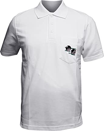 Mens Bowling Polo Shirt With Front Pocket And Embroidery On The
