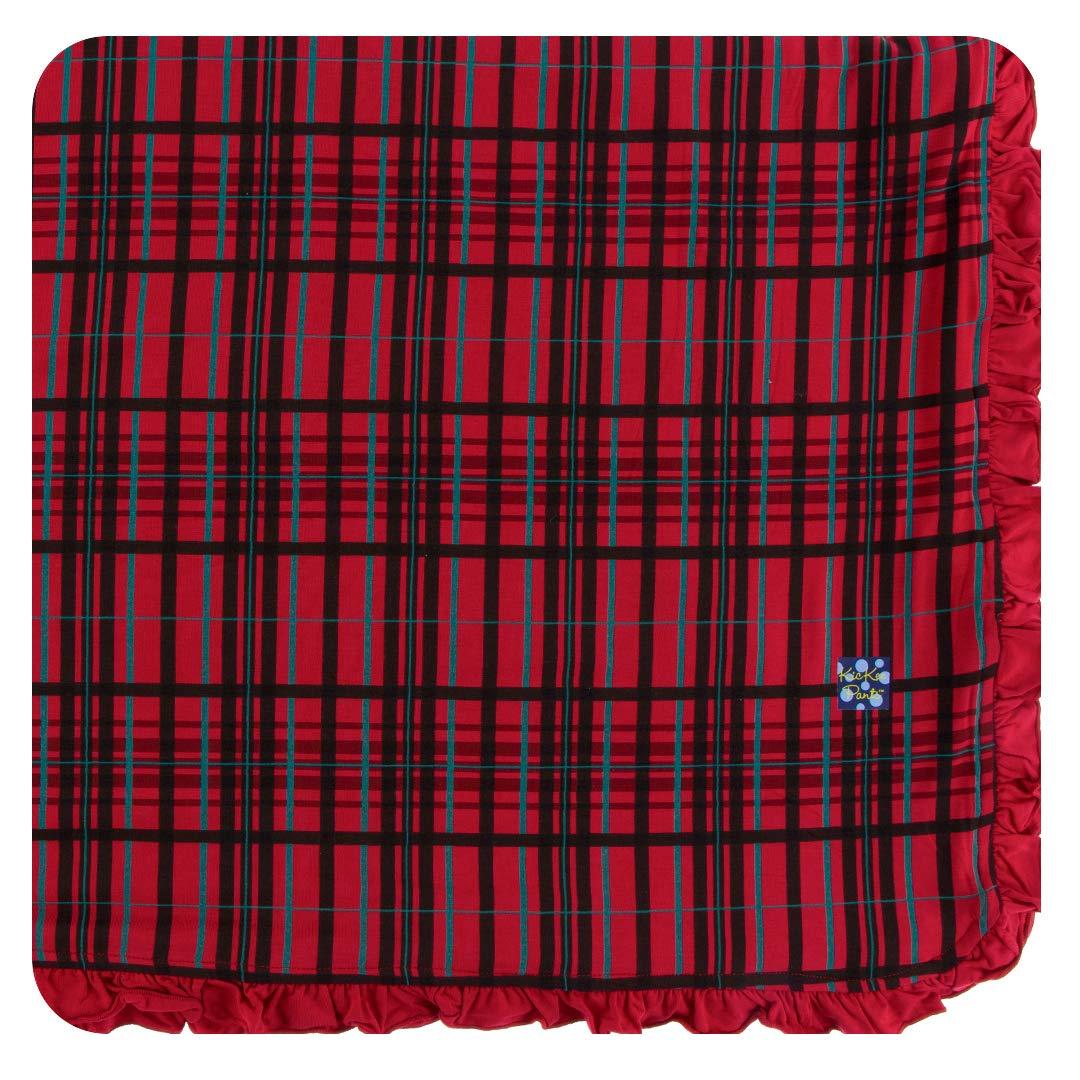 Kickee Pants Print Ruffle Toddler Blanket - Christmas Plaid by Kickee Pants