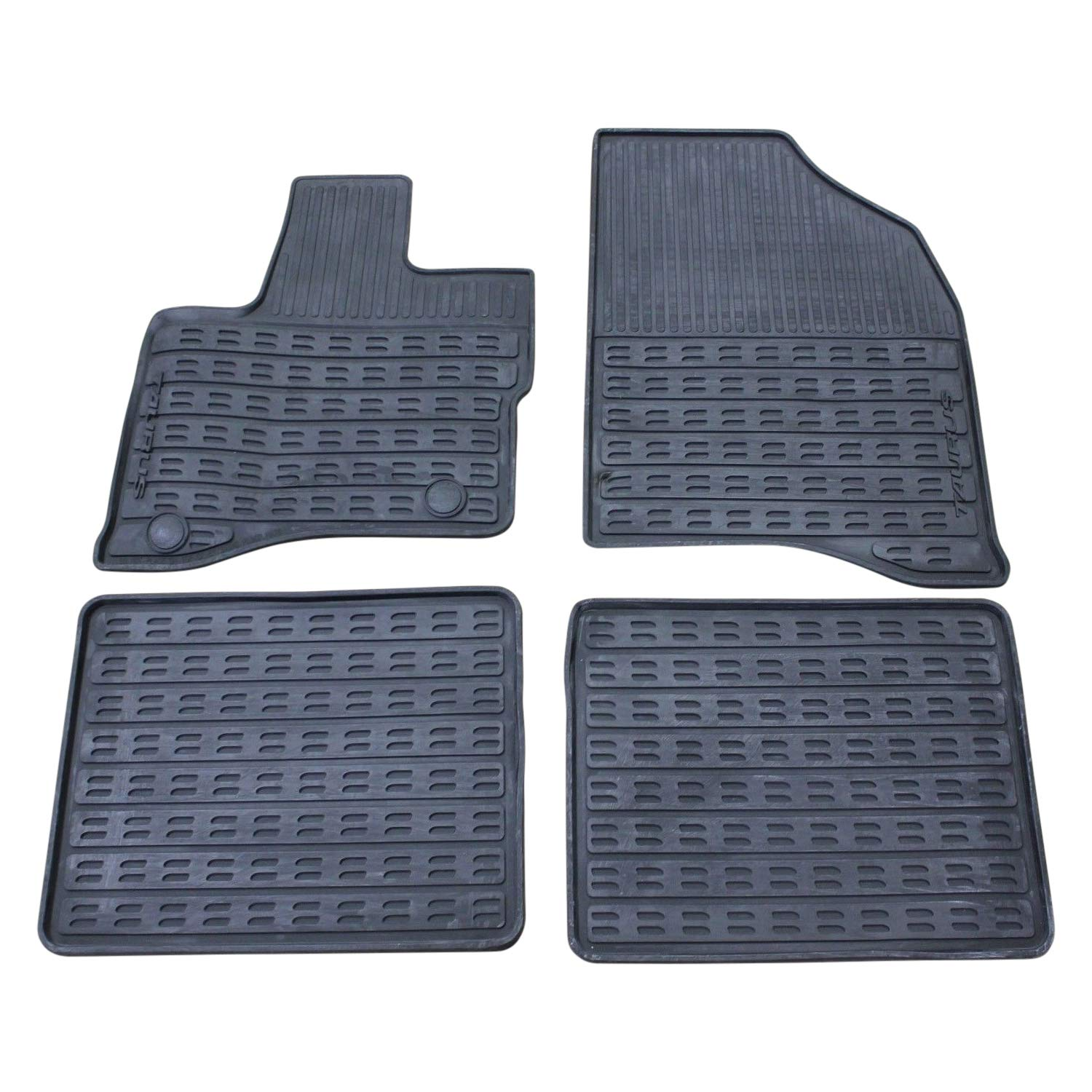 Oem Factory Stock 2011 2012 2013 2014 2015 Ford Taurus Black Ebony Rubber All Weather Floor Mats Set 4-pc Front & Rear