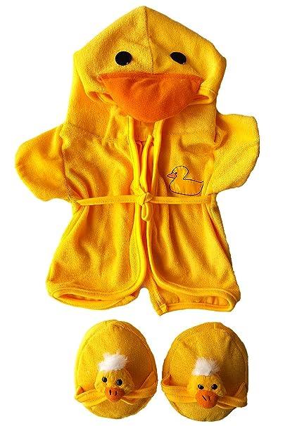 3835cbb78e Amazon.com  Duck Robe   Slippers Pajamas Outfit Teddy Bear Clothes ...