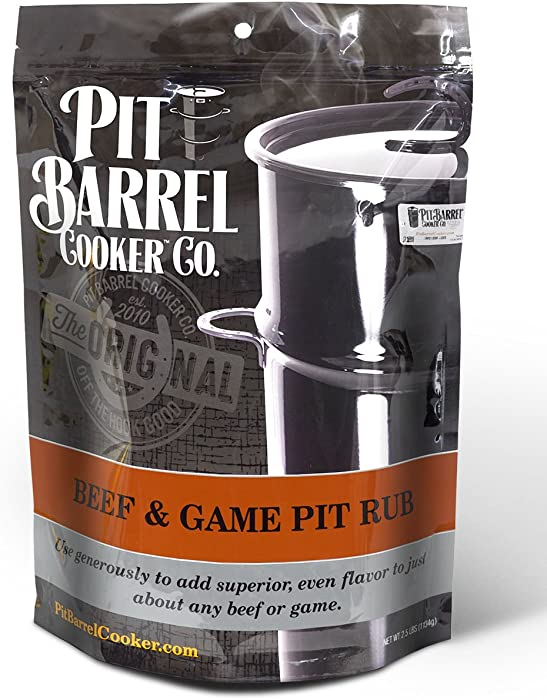 Pit Barrel Cooker PRO250BG Beef and Game Beef & Game Pit Rub 2.5 lb. Bag, One Size