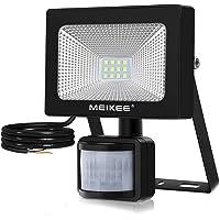 MEIKEE 10W Schijnwerper met Sensor IP66 Waterdicht 1000LM 6500K Koud Wit Buitenlamp voor Achtertuin, Uitrit, Deuren…