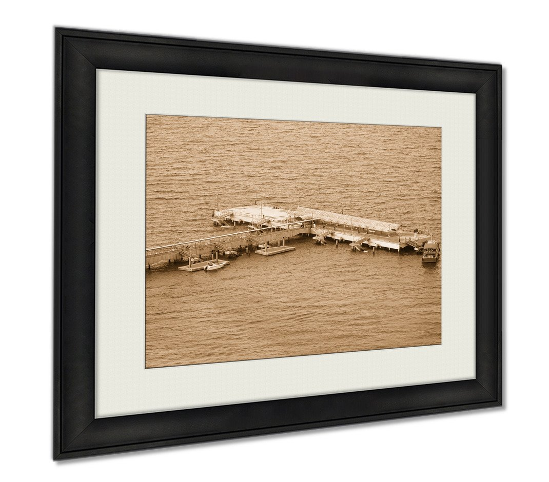 Ashley Framed Prints Marina Pattaya Kholan Island, Wall Art Home Decoration, Sepia, 26x30 (frame size), AG5892517 by Ashley Framed Prints