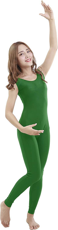 Felicirisa Unisex Bodysuit Sleeveless Scoop Neck Lycra Spandex Dance Unitard